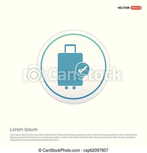 Bag icon - white circle button - csp62097807