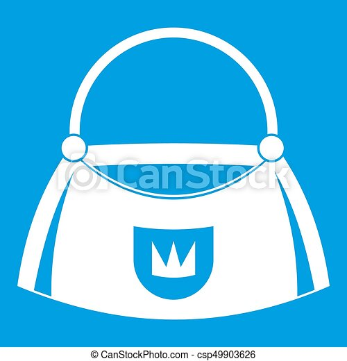 Bag icon white - csp49903626