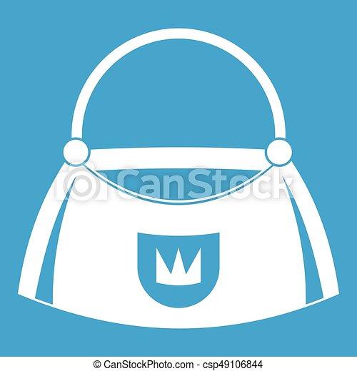 Bag icon white - csp49106844