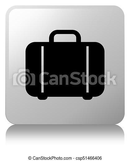 Bag icon white square button - csp51466406