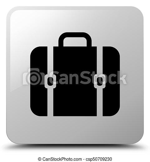 Bag icon white square button - csp50709230