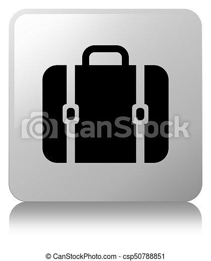 Bag icon white square button - csp50788851