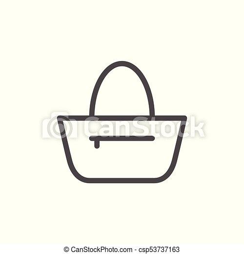 Bag line icon - csp53737163