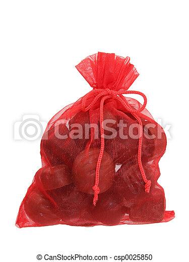 Bag of Chocolates Isolated on White (8.2mp Image) - csp0025850