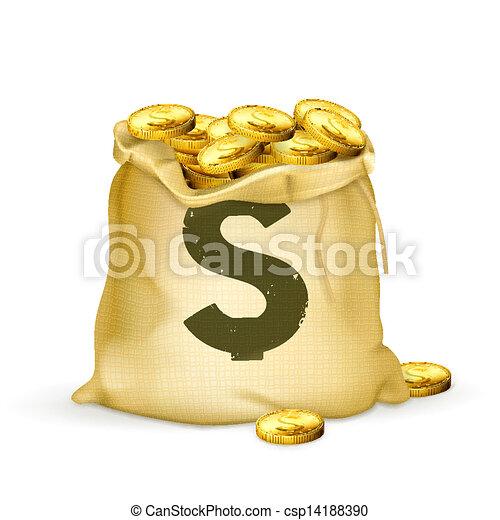 Bag of gold - csp14188390