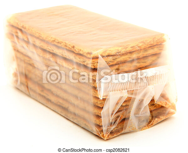 Bag of Graham Crackers Over White - csp2082621