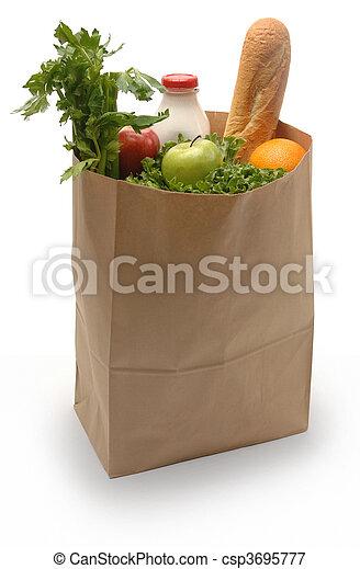 Bag of Groceries - csp3695777