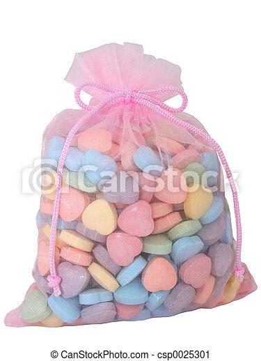 Bag of Heart Candies - csp0025301
