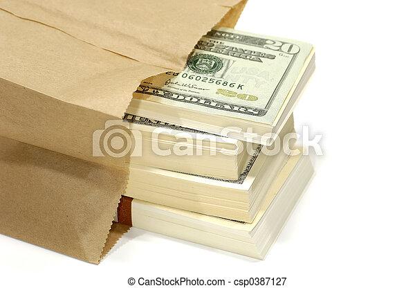 Bag of Money - csp0387127