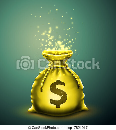 Bag of money - csp17821917