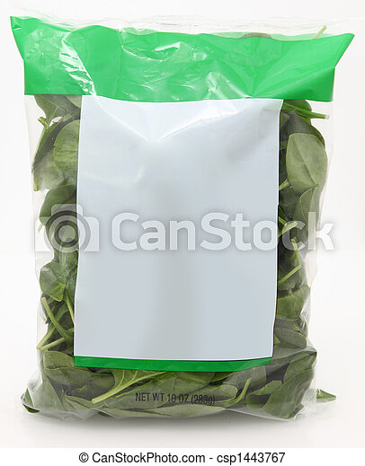 Bag of Spinach - csp1443767