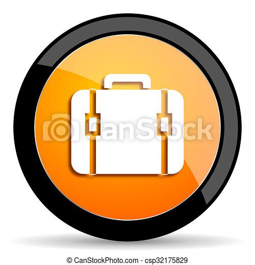bag orange icon - csp32175829