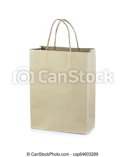 Bag paper isolated on white background - csp64603289