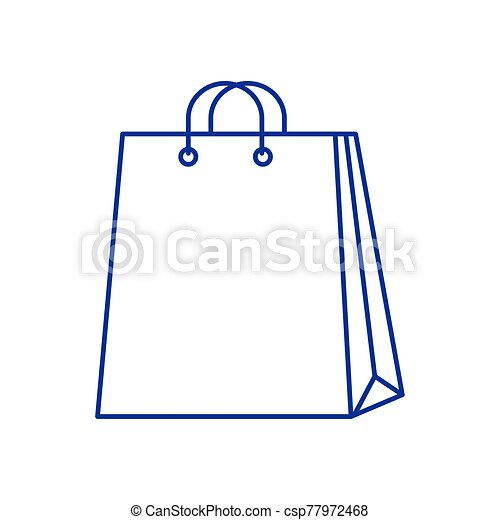 bag paper shopping isolated icon - csp77972468