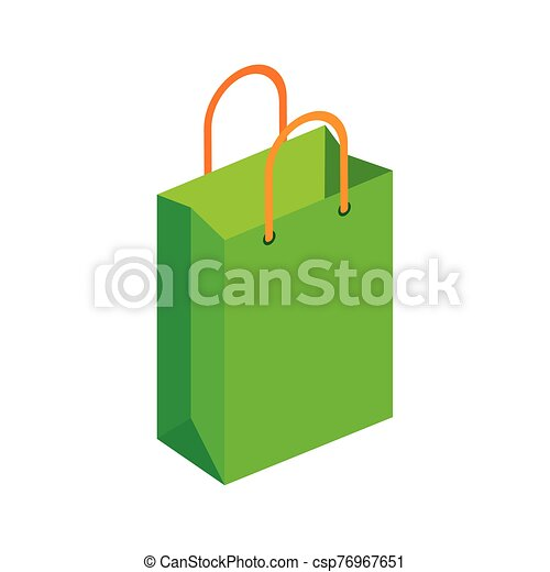 bag paper shopping isolated icon - csp76967651