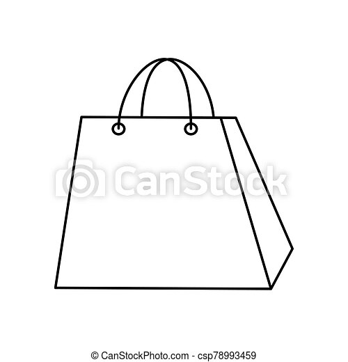 bag paper shopping isolated icon - csp78993459