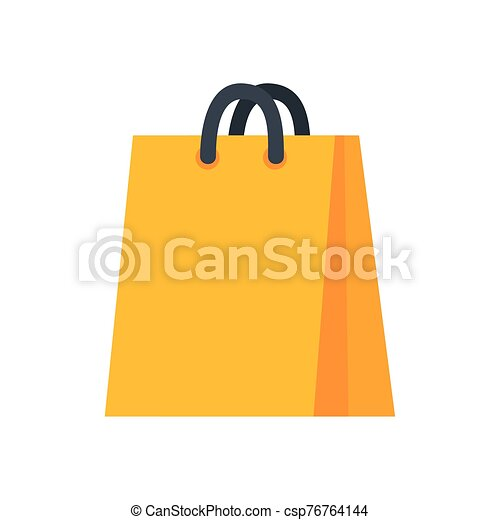 bag paper shopping isolated icon - csp76764144