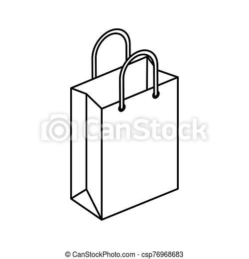bag paper shopping isolated icon - csp76968683