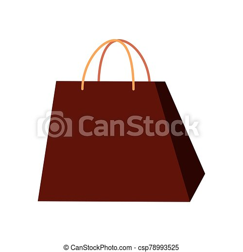 bag paper shopping isolated icon - csp78993525