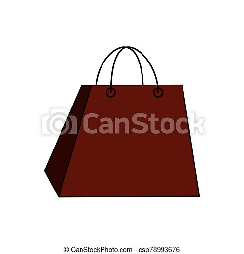 bag paper shopping isolated icon - csp78993676