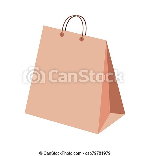bag paper shopping isolated icon - csp79781979