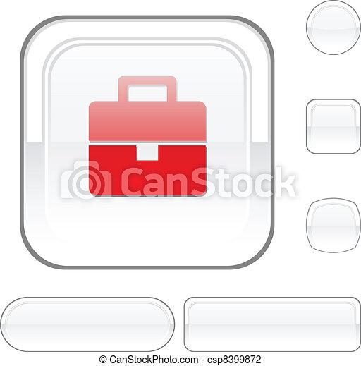 Bag white button. - csp8399872
