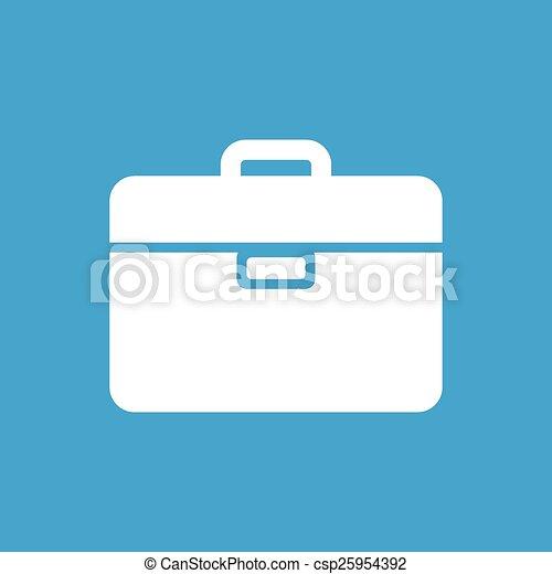 Bag white icon - csp25954392
