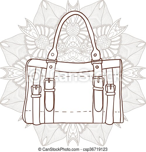 Bag with an ornament in the background - csp36719123