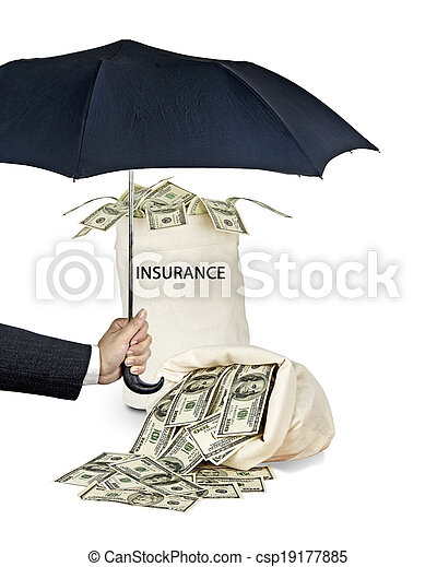 Bag with  insurance - csp19177885