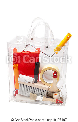 Bag With Painting Tools - - csp19197197