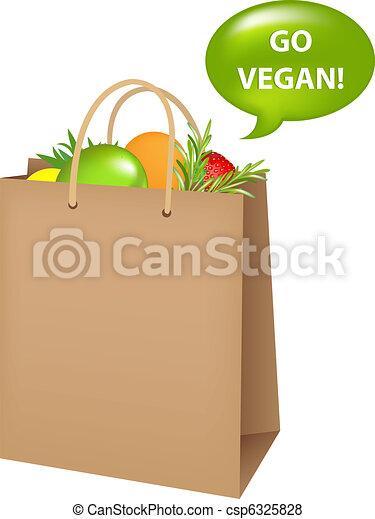 Bag With Vegan Food - csp6325828