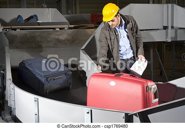 bagage, ouvrier, ceinture - csp1769480