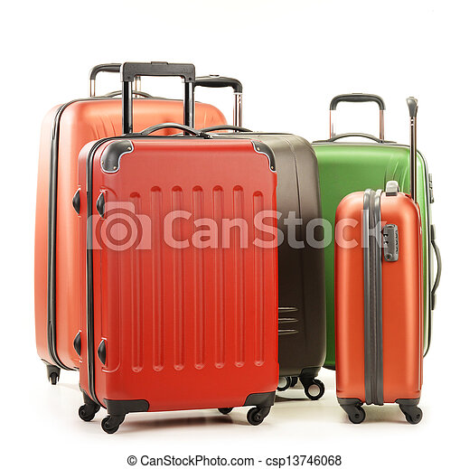 bagage, valises, isolé, grand, blanc, consister - csp13746068