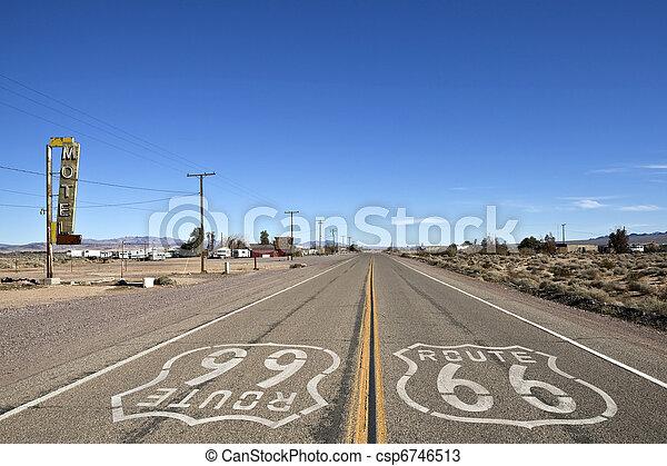 Bagdad California - Historic Route 66 - csp6746513