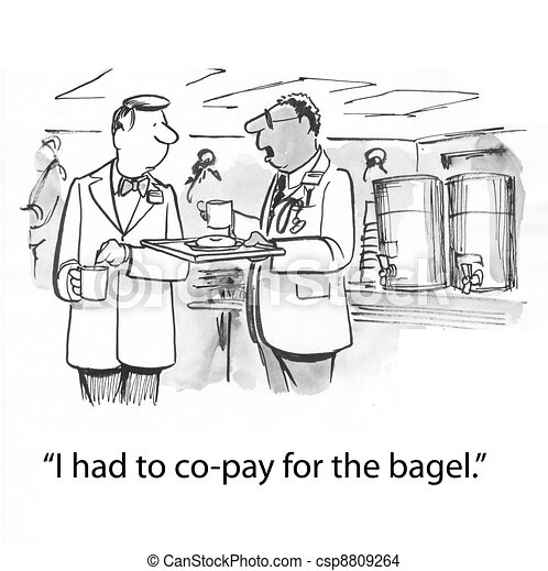 bagel, co-pay - csp8809264