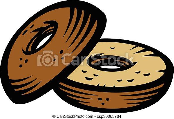 bagel vector icon vector search clip art illustration drawings rh canstockphoto com clip art bagel club bagel clip art free