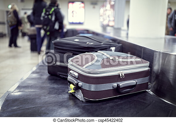 Baggage claim at airport - csp45422402