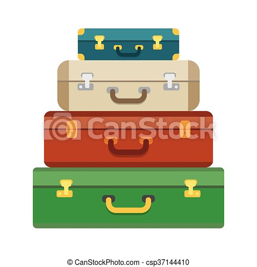 Baggage, luggage, suitcases on background. - csp37144410