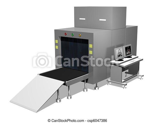 Baggage scanner - csp6047386