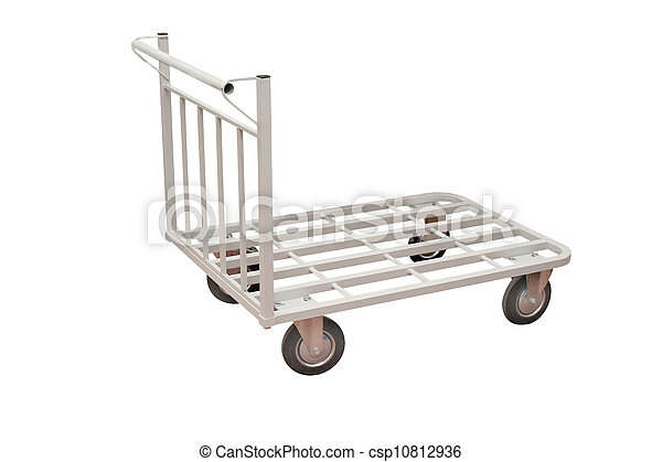 baggage trolley under the white background - csp10812936