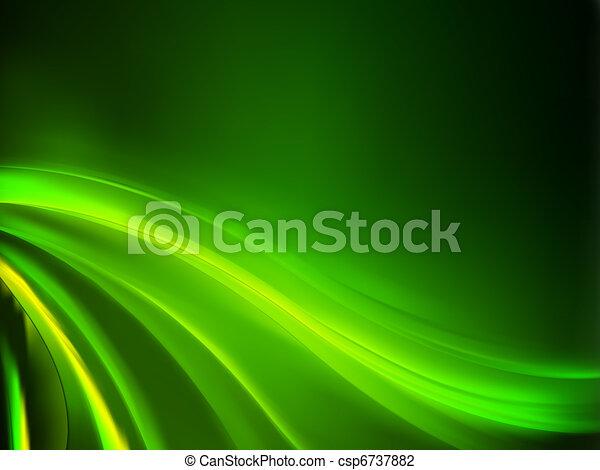 baggrund., abstrakt, grønne, eps, 8 - csp6737882
