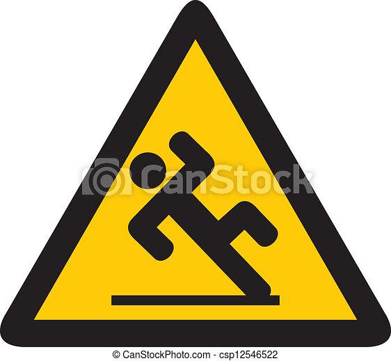 bagnato, segno, pavimento - csp12546522