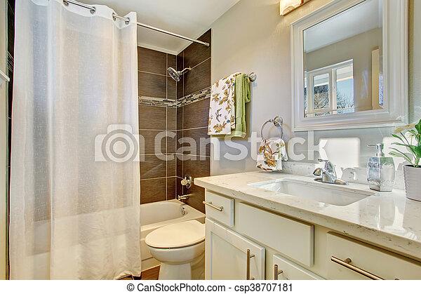 Bagno gabinetto pavimento interno piastrella bianco. bagno