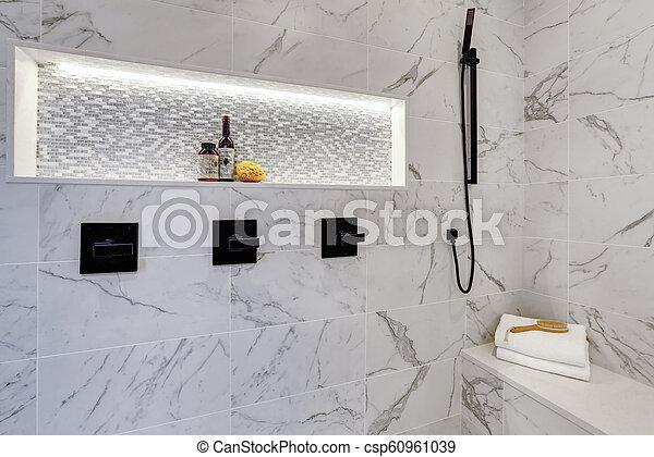 Bagni Moderni In Marmo.Bagno Moderno Tegole Doccia Maestro Lusso Interno Casa