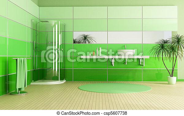 immagini di bagno, moderno, verde - bagno, moderno, -, doccia ... - Bagni Moderni Verdi