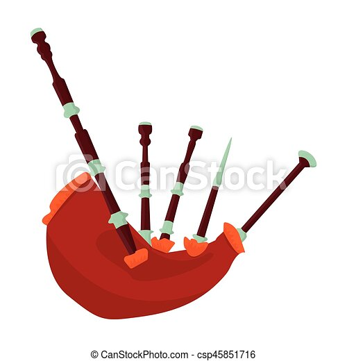 bagpipes from a cow s stomach the national musical vector clip rh canstockphoto co uk scottish bagpipes clipart clipart bagpipes cartoon