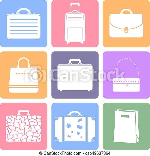 Bags flat icons - csp49637364