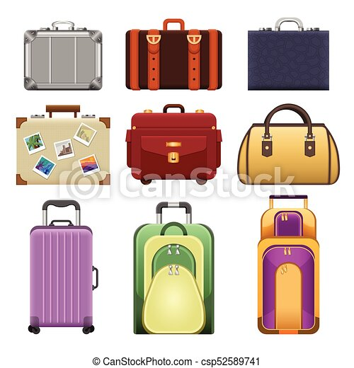 Bags - modern vector realistic isolated set of objects - csp52589741