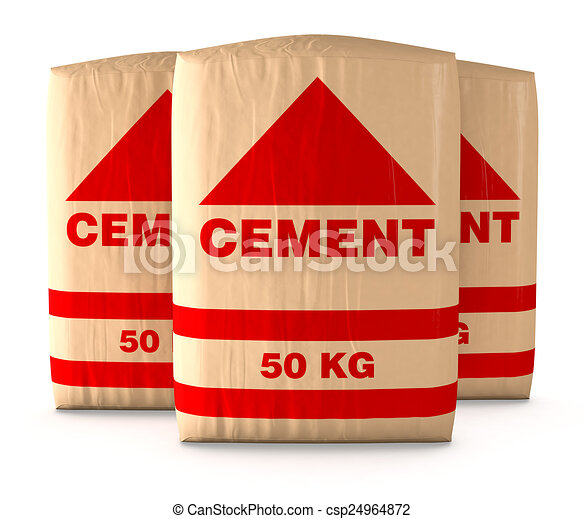 bags of cement - csp24964872