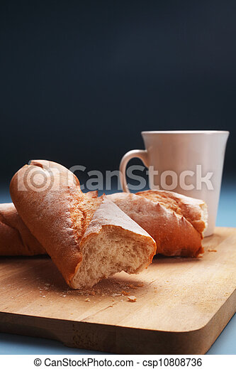 baguette and coffee - csp10808736